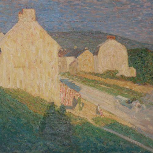 Raymond THIBÉSART (1874 1968) The Entrance of the village, 1905 Oil on canvas. S…