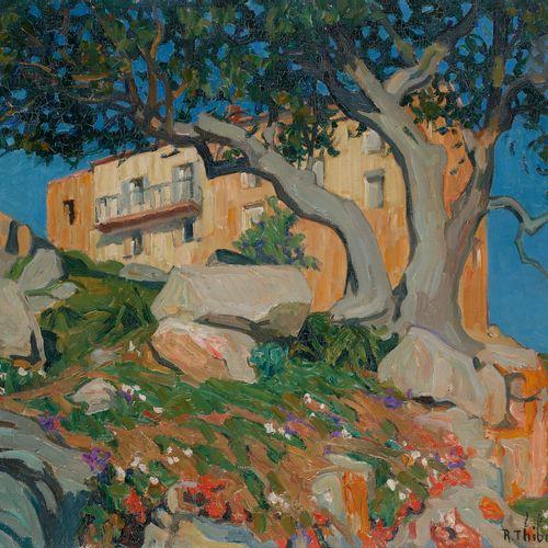 Raymond THIBÉSART (1874 1968) Corsica, Piana, the olive trees, 1928 Oil on canva…