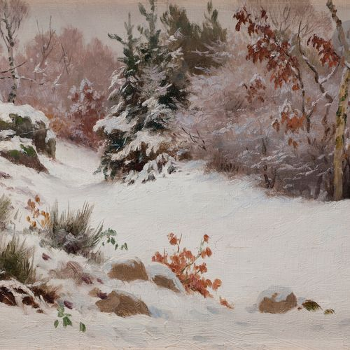 Georges Frédéric RÖTIG (1873 1961) Snowy Landscape, 1907 Oil on canvas. Signed l…