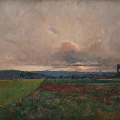 Émile NOIROT (1853 1922) Soir d'orage, 1889 Oil on canvas. Signed and dated lowe…