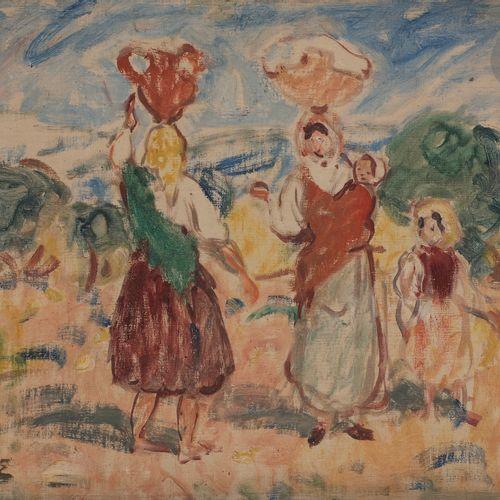 Georges d'ESPAGNAT (1870 1950) Peasant women, circa 1903 Oil on canvas. Signed l…