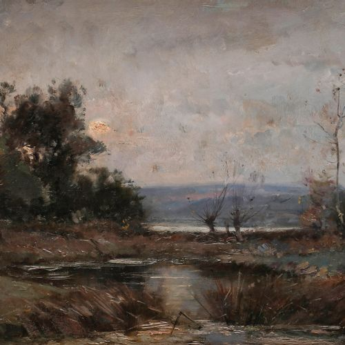 Émile NOIROT (1853 1922) Loire, late autumn, 1894 Oil on canvas. Signed and date…
