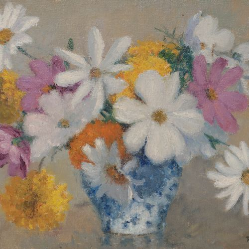 Raymond THIBÉSART (1874 1968) Bouquet Oil on canvas. Signed lower right. Titled …