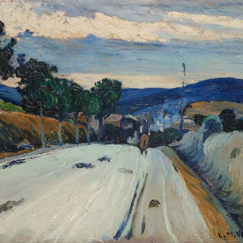 Louis Mathieu VERDILHAN (1875 1928) Man on the road Oil on canvas. Signed lower …