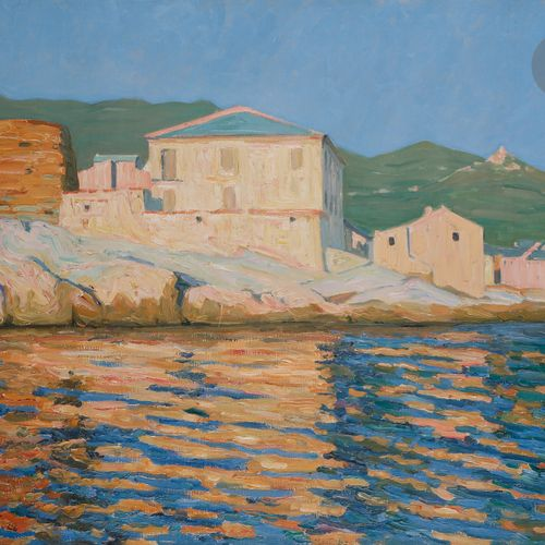 Raymond THIBÉSART (1874 1968) Centuri, Cap Corse, 1928 Oil on canvas. Signed and…