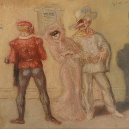 George BOTTINI (1874 1907) Costume Ball, 1903 Oil on canvas mounted on cardboard…