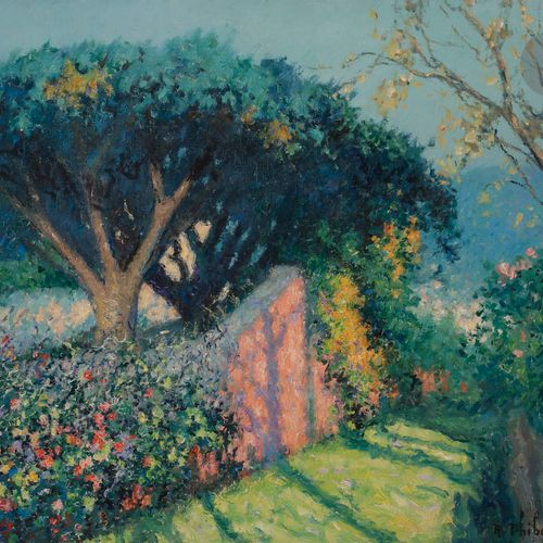 Raymond THIBÉSART (1874 1968) Funchal, Madeira Oil on canvas. Signed lower right…