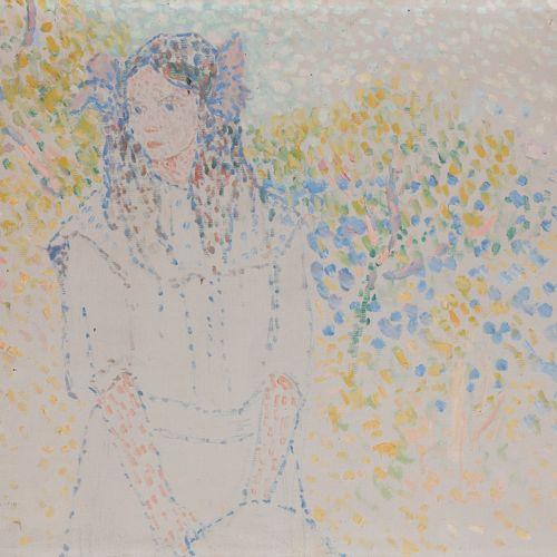 Jean Jacques ROQUE (1880 1925) Pointillist Portrait, 1910 Oil on canvas. Signed …
