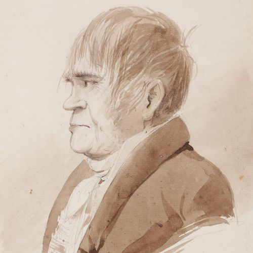 Eugène CICERI (1813 1890 )Presumed portrait of Prosper Enfantin dit Père Enfanti…