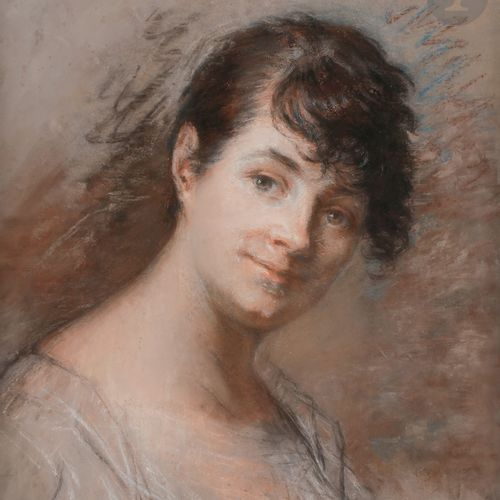 19th century French school from PRUD'HONPortrait of a womanPastel annotated lowe…