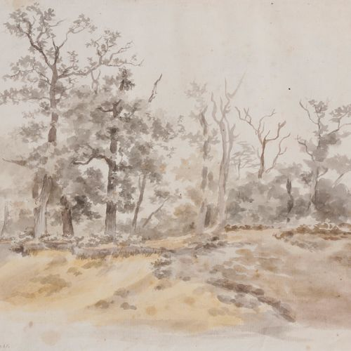 Jean Louis de MARNE (1752 1829 )LandscapeWatercolour on black pencil strokes. Si…