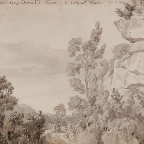 Elisabeth FANSHAW (1779 1855 )Rock above Guy Denzil's Cave in Brignal Bank, 1816…