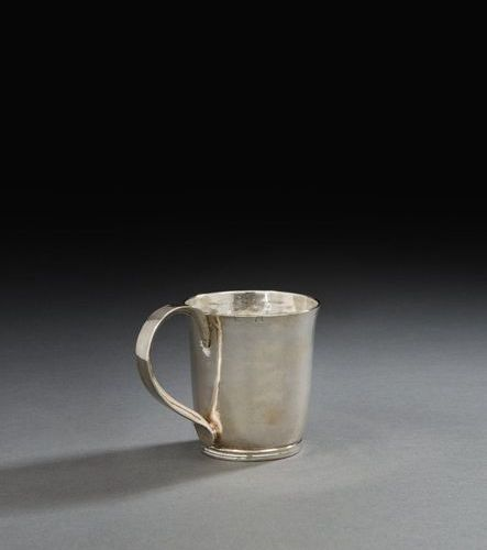 LILLE 1748 1749 A beaker with handle in silver Master silversmith: Ernest Joseph…