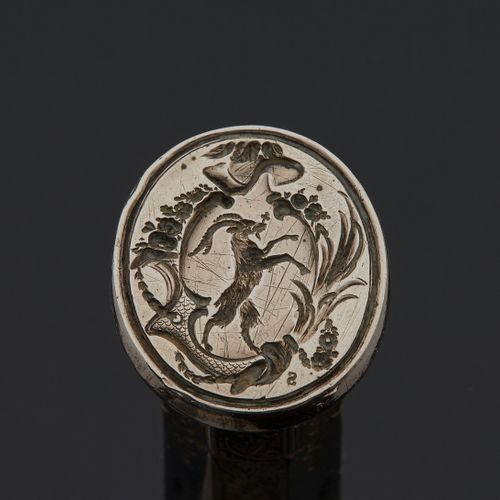 ÉTUI A CIRE, 18th CENTURY In silver and an octagonal shape Master silversmith: t…