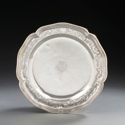 TOULOUSE 1765 An ecuelle with Stand in silver Master silversmith: Bernard VINSAC