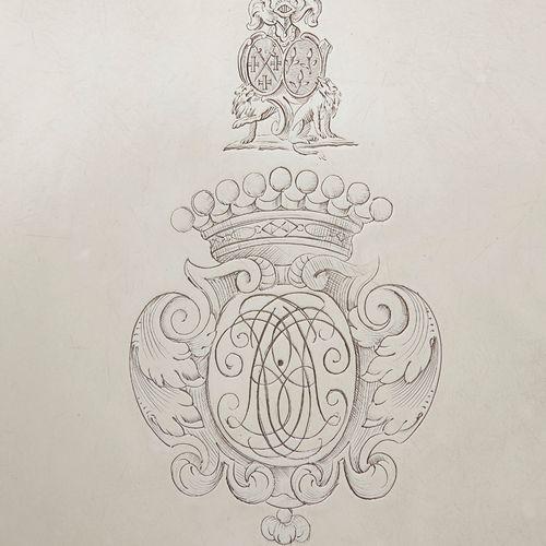 LILLE 1731 1733 A presentation dish in silver Master silversmith: Pierre Ignace …