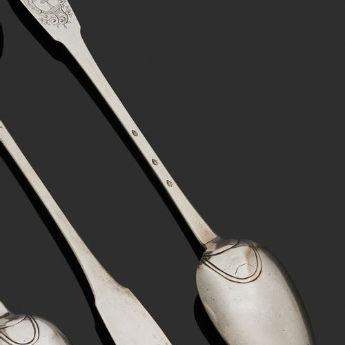 FRANCE 18th CENTURY A ragout spoon in silver