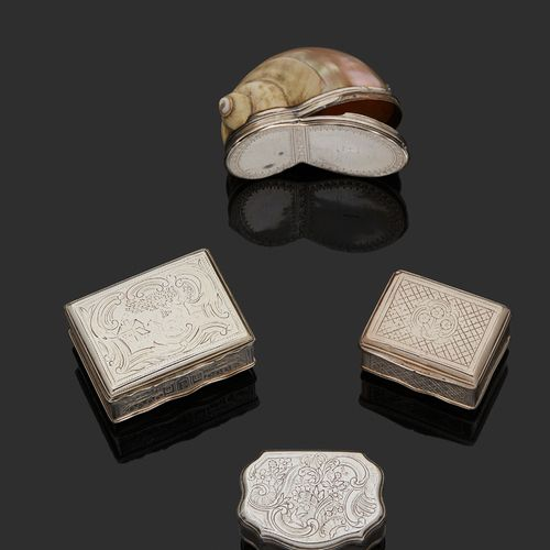 LILLE 1762 1763 A snuffbox in silver Master silversmith: Louis DELETOMBE