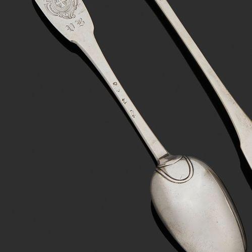 SAINT MALO 1730 1732 A ragout spoon in silver Master silversmith: hard to identi…
