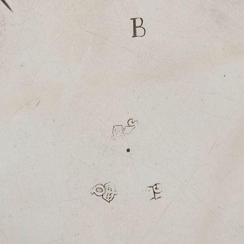 LILLE 1728 1729 A saucer dish in silver Master silversmith: Joseph GODIN