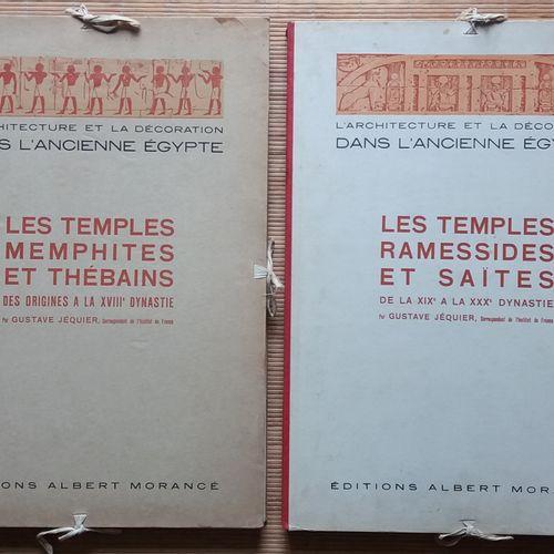 [ARCHÉOLOGIE ÉGYPTOLOGIE] 2 portfolios. *L'architecture et la décoration dans l'…