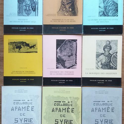 [ARCHÉOLOGIE SYRIE] 9 ouvrages sur Apamée en Syrie. *Apamée de Syrie. Bilan des …