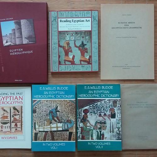 [ARCHÉOLOGIE ÉGYPTOLOGIE] 8 ouvrages sur les hiéroglyphes. *Grammaire égyptienne…