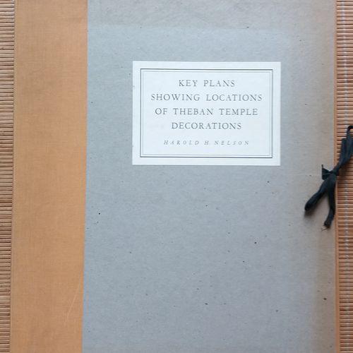 [ARCHÉOLOGIE ÉGYPTOLOGIE] 1 portfolio. *Key Plans Showing Locations of Theban Te…