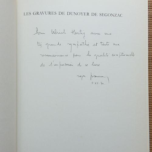 [ART DUNOYER DE SEGONZAC] 1 ouvrage, dédicacé et signé à l'imprimeur du livre. *…