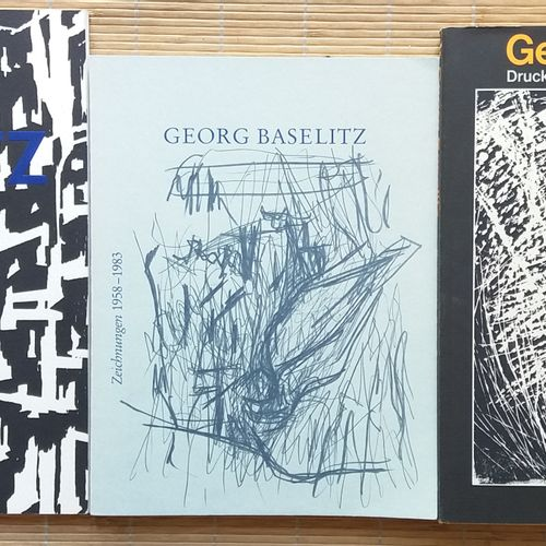 [ART BASELITZ, GEORG] 3 ouvrages. *Georg Baselitz. 23 Holzschnitte. Maximilian V…