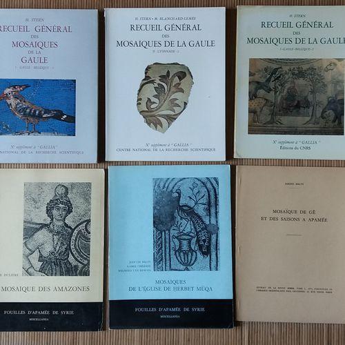 [ARCHÉOLOGIE MOSAÏQUES] Ensemble de 10 ouvrages. *Recueil Général des Mosaïques …