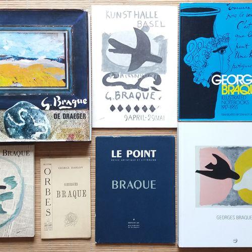 [ART BRAQUE, GEORGES] 7 ouvrages. *G. Braque De Draegger. Draeger Editeur, 1971.…