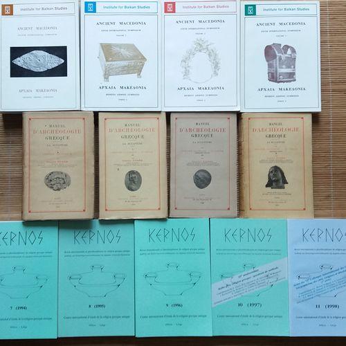 [ARCHÉOLOGIE GRECE] 13 ouvrages. *Manuel d'archéologie grecque. Par Charles Pica…