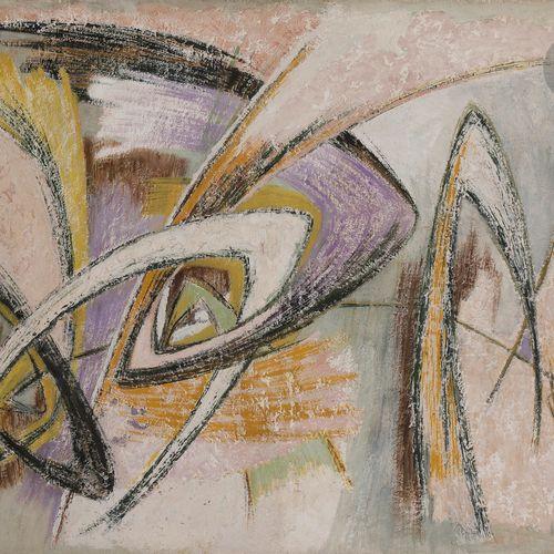 Gérard VULLIAMY (1909 2005) La Carriole, 1948 Huile sur toile. Signée et datée e…