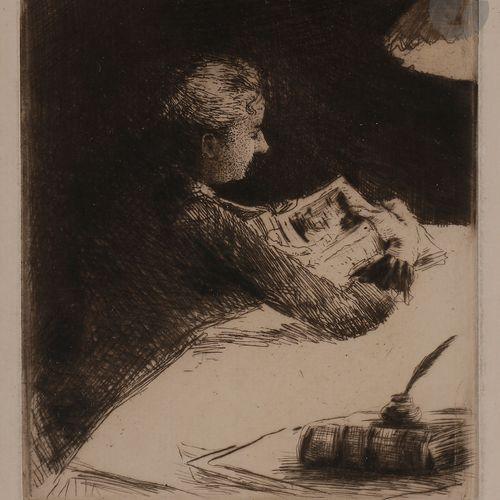 Norbert GOENEUTTE (1854 1894)  Marguerite Gachet, ou La Lecture du soir, 1891 94…