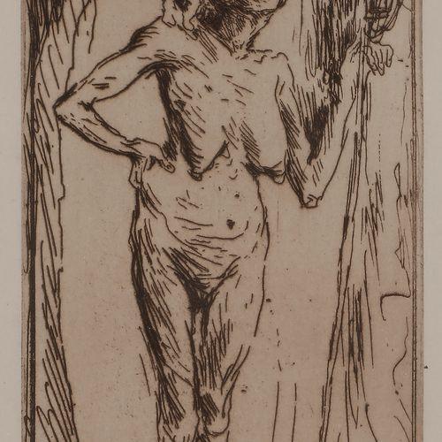 Norbert GOENEUTTE (1854 1894)  La Sorcière (ou Départ pour le Sabbat), avant 188…