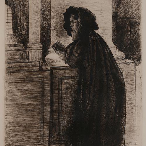 Norbert GOENEUTTE (1854 1894)  La Prière, 1894  Eau forte.  615 x 430 mm.  (Duvi…