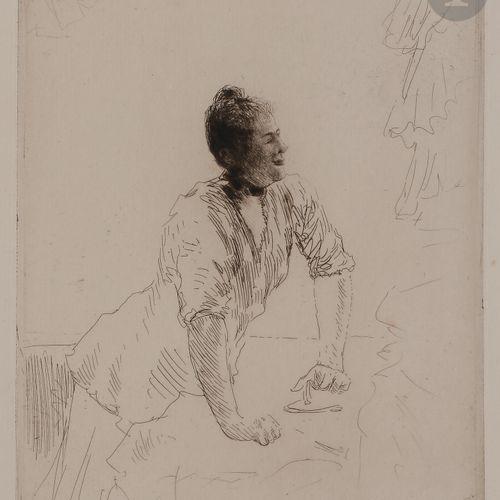 Norbert GOENEUTTE (1854 1894)  La Blanchisseuse, vers 1890  Eau forte et pointe …