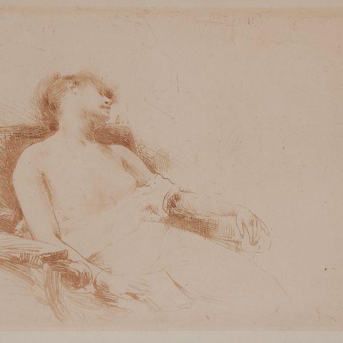 Norbert GOENEUTTE (1854 1894)  Somnolence (femme endormie, torse nu), vers 1888 …
