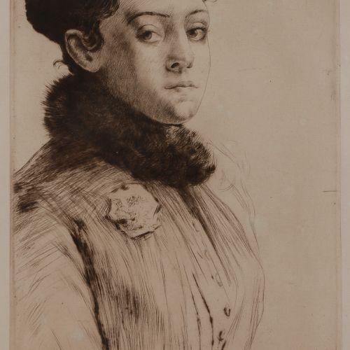 Norbert GOENEUTTE (1854 1894)  Maud, 1891  Pointe sèche.  350 x 235 mm.  (Duvivi…