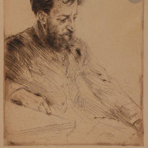 Norbert GOENEUTTE (1854 1894)  Portrait d'Eugène Murer, après 1888  Eau forte et…
