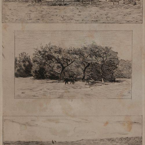 Norbert GOENEUTTE (1854 1894)  Trois paysages, d'après Antoine Chintreuil (1816 …