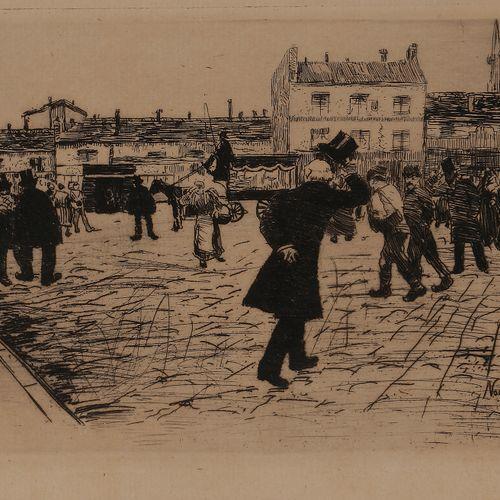 Norbert GOENEUTTE (1854 1894)  Le Dernier Salut, vers 1879  Eau forte.  160 x 24…