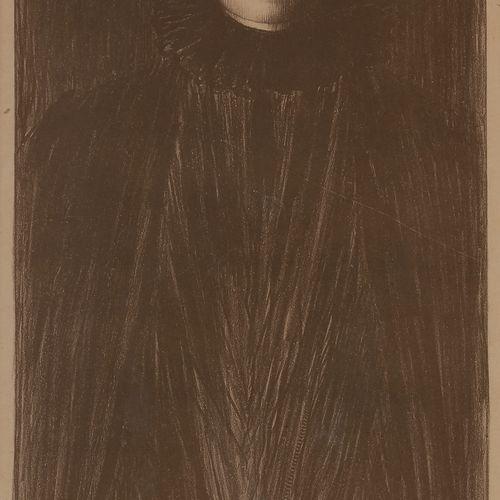 Norbert GOENEUTTE (1854 1894)  Femme vue de face, 1894  Lithographie.  550 x 270…