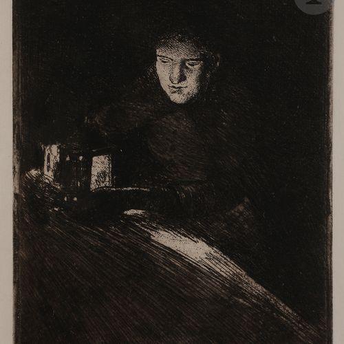Norbert GOENEUTTE (1854 1894)  Marguerite Gachet à la lanterne, 1891 94  Eau for…