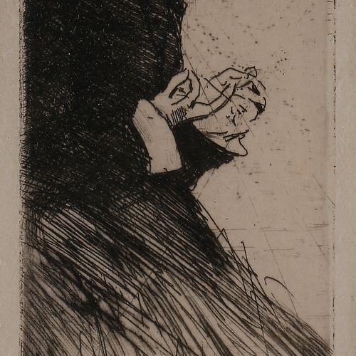 Norbert GOENEUTTE (1854 1894)  La Dévideuse, avant 1888  Eau forte et pointe sèc…