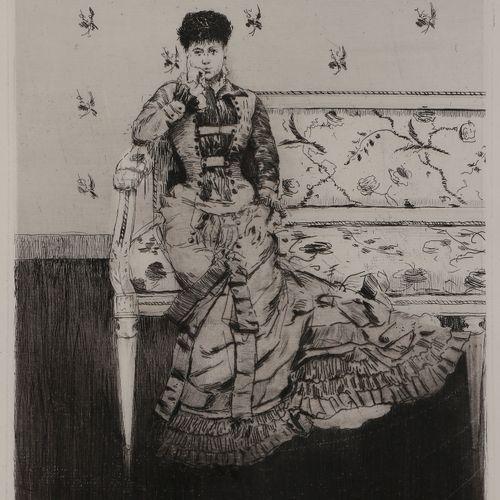 Norbert GOENEUTTE (1854 1894)  Fantaisie (jeune femme sur un canapé), 1877  Eau …