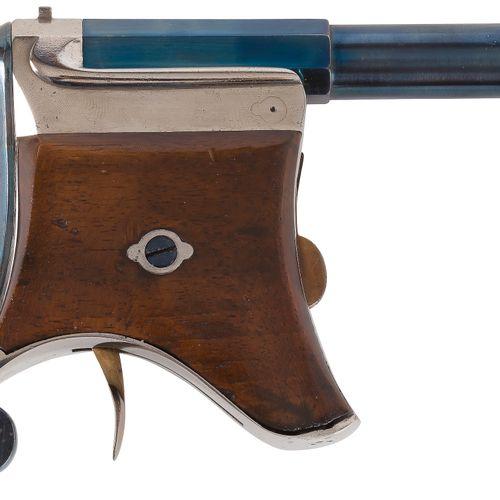 Curieux pistolet type Derringer à système à broche, 1 coup, calibre 9 mm Canon r…