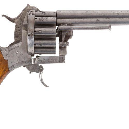 Revolver à broche Lefaucheux, triple action, 20 coups, calibre 7 mm Canons ronds…