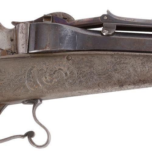 Rare carabine à répétition par gravité, système « Colette », simple action, cali…